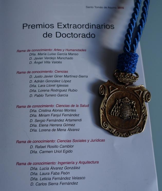 Premio Extraordinario de Tesis Doctoral - Premiados