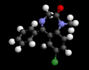 Estructura de Benzodiazepina (Valium)
