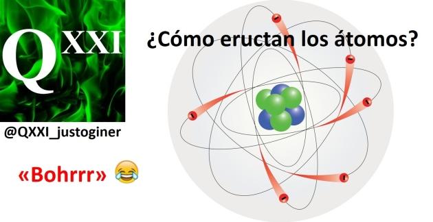 Cómo eructan los átomos